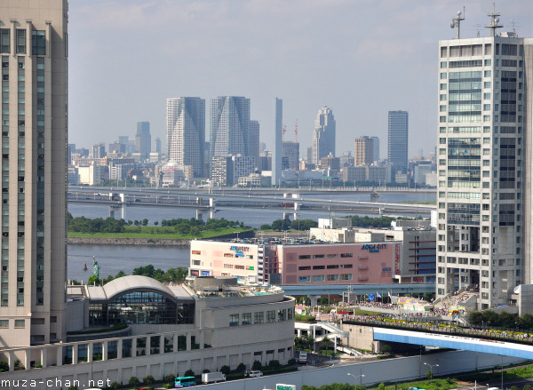 View from Museum of Maritime Science Observation Deck, Odaiba, Tokyo