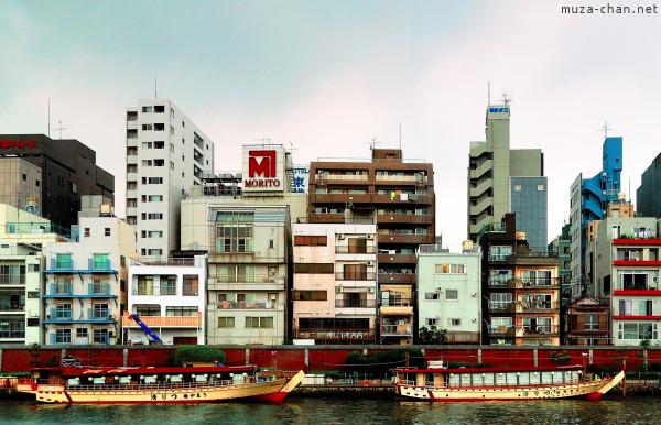 Asakusa, view from the Sumida River, Tokyo