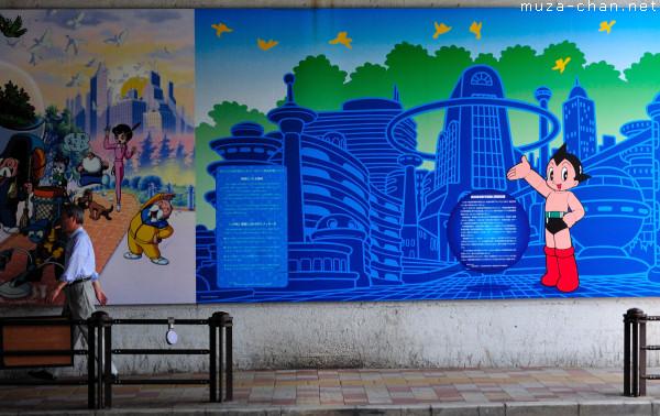 Astro Boy mural painting, Takadanobaba, Tokyo