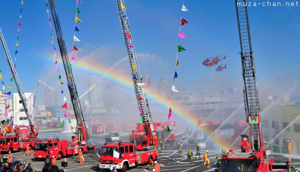Dezome-shiki (New Year's Parade of Firemen), Odaiba, Tokyo