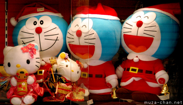 santa claus doraemon - Japanese Christmas Decorations