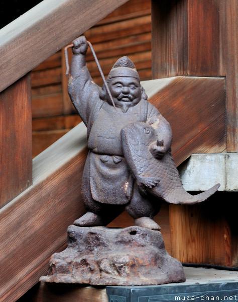 Ebisu statue, Shitaya Shrine, Tokyo