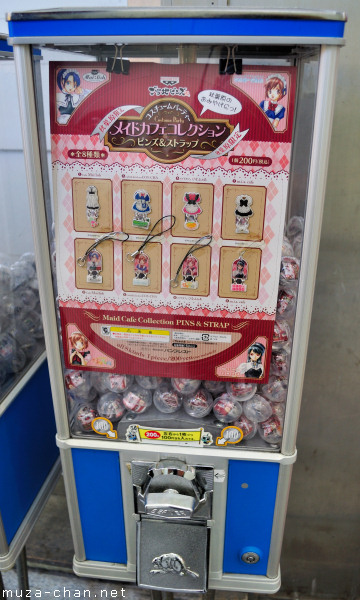 Gashapon machines - Maid Cafe Collection Pins and Strap, Tokyo