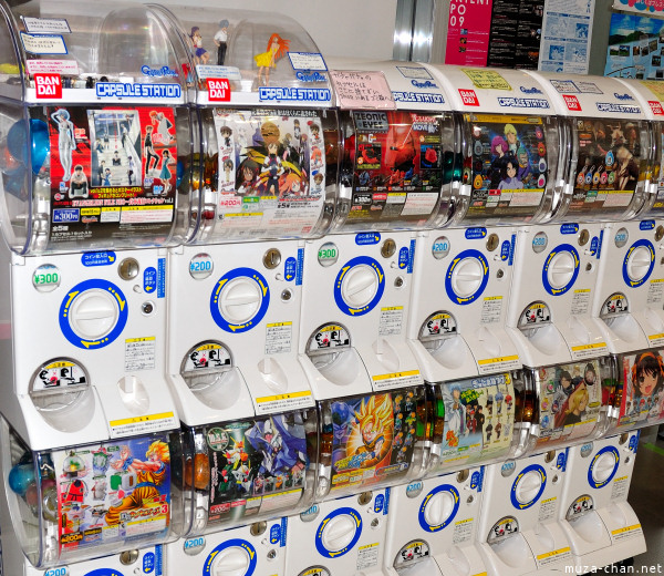 Gashapon Machines, Tokyo Anime Center, Akihabara UDX