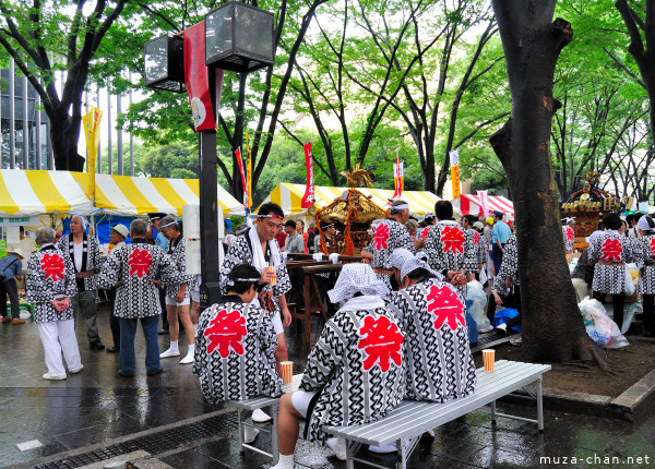 Gathering for the Mikoshi Parade, Furusato Kumin Matsuri