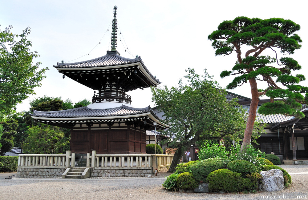 Japanese Traditional Architecture Tahoto Pagoda At Gokoku Ji Temple