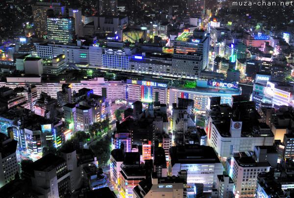 Colored Night over Ikebukuro, Tokyo