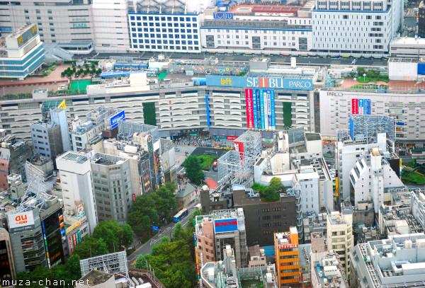 Bird's Eye View of Ikebukuro Station, Tokyo