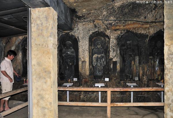 Inside the Benten-kutsu Cave, Hasedera Temple, Kamakura
