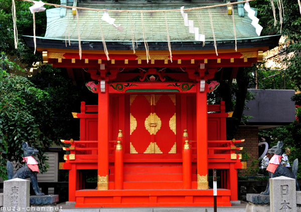 Kitsune Guardians, Kanda Myojin Suehiro Inari Shrine