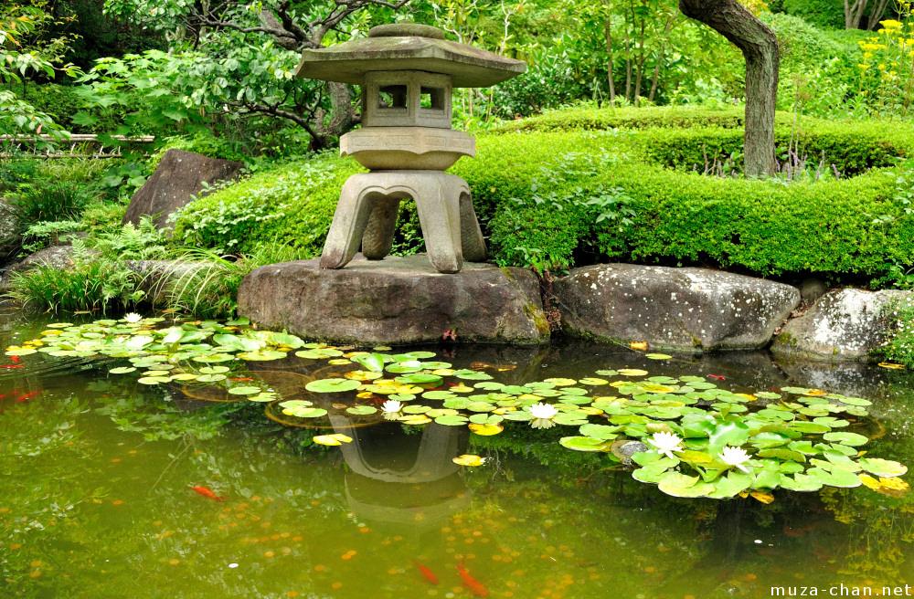 Каменный японский фонарь своими руками 6