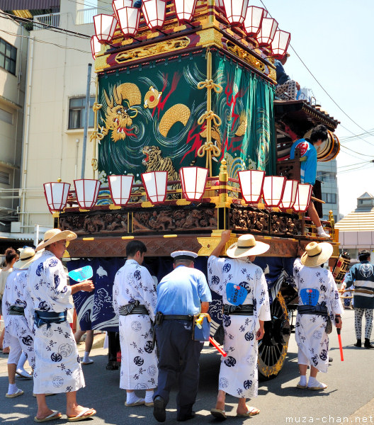 Floats Parade at Uchiwa Matsuri, Kumagaya, Saitama