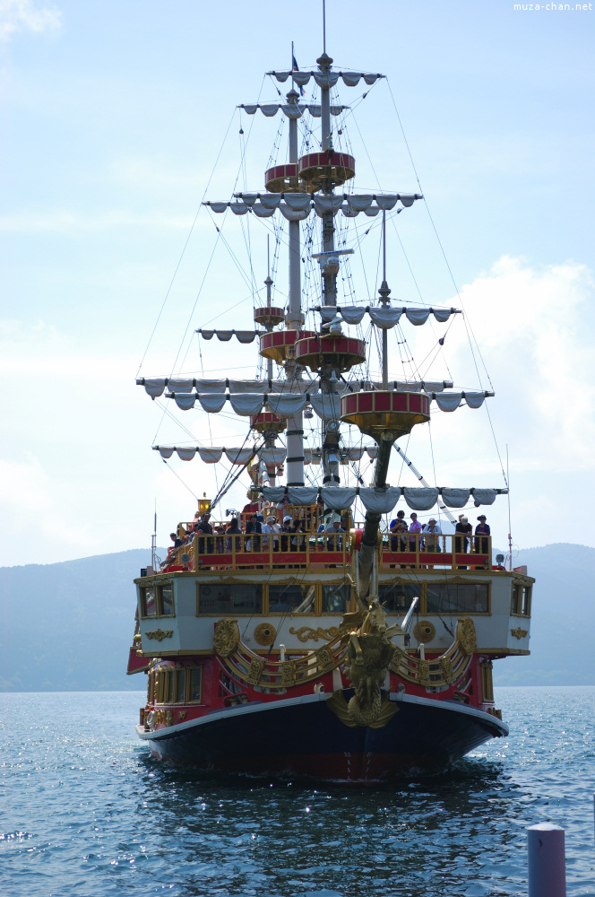The pirate ships from Hakone