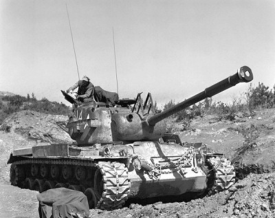 M46 Patton tank in the Korean War