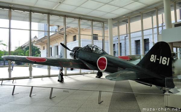 Mitsubishi Navy Type 0 Carrier Fighter, Yushukan, Yasukuni Shrine, Tokyo