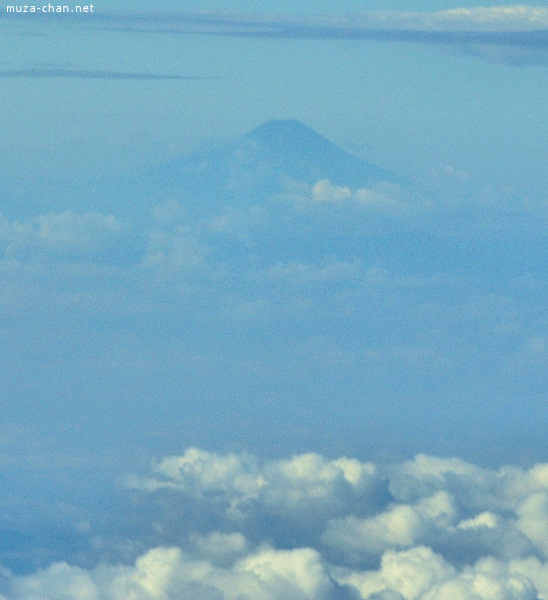 Mount Fuji, view from airplane