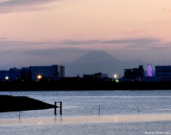 Mount Fuji, view from Kasai Rinkai Park