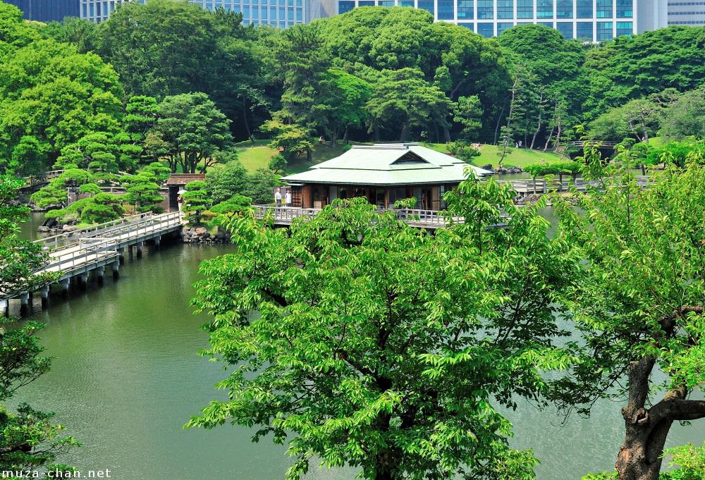 Tea House at Hama-rikyu Japanese Garden