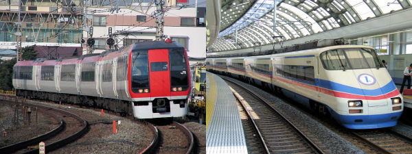 Narita Express and Kaisei Skyliner