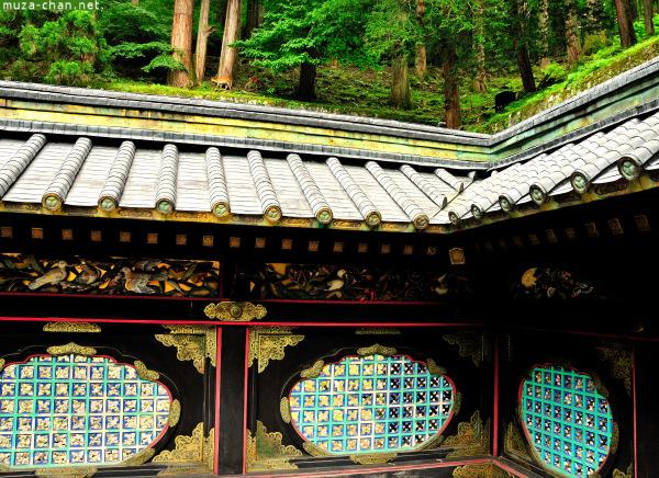 Corridor of Honden Mausoleum Rinno-ji Taiyuin