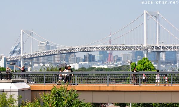 Promenade Near Rainbow Bridge, Odaiba, Tokyo