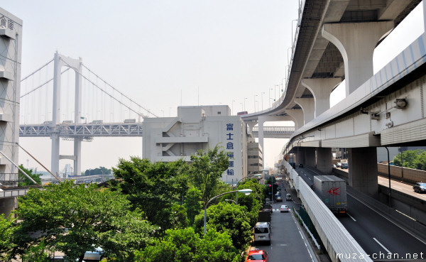 Rainbow Bridge, View from Shibaura-futō Station