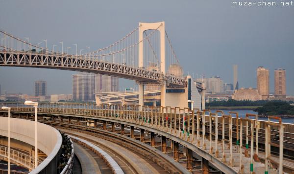 Rainbow Bridge, viewed from Yurikamome, Tokyo
