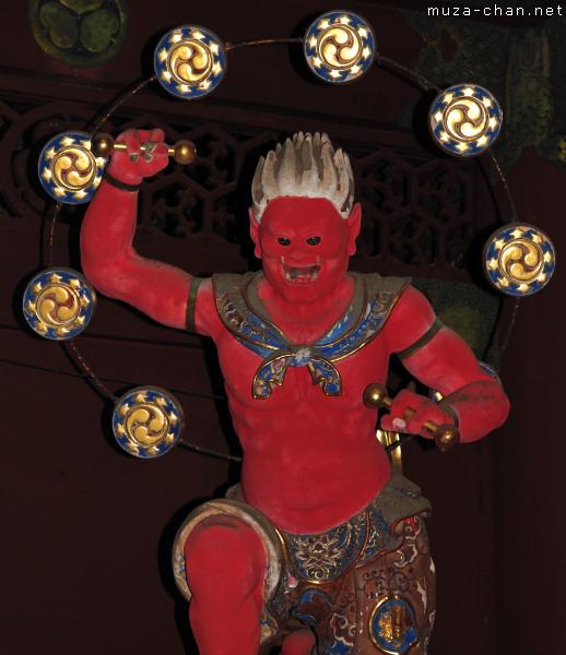Raijin Statue, Nitenmon Gate, Taiyuin Mausoleum, Nikko