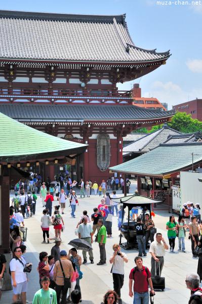 Tourists at Senso-ji Temple, Asakusa, Tokyo