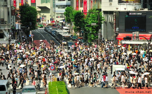 Shibuya Scramble Crossing Crowd