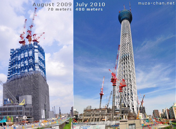 Tokyo Sky Tree July 2009 - August 2010