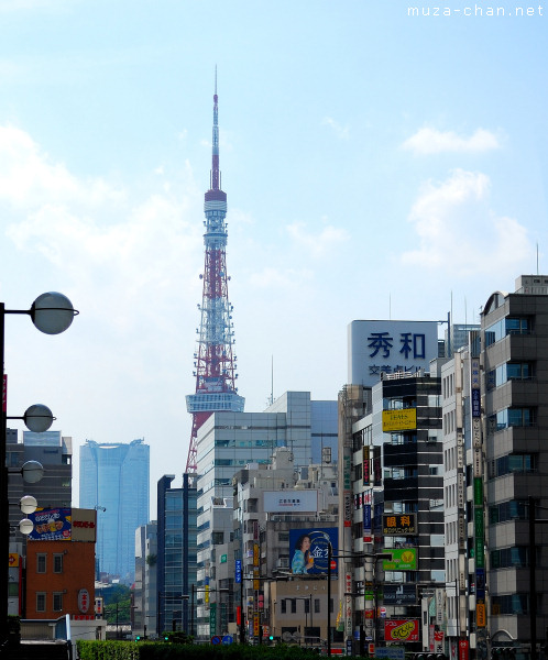 Tokyo Tower, View from Hamamatsuchō Station