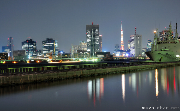 Tokyo Tower, View from Harumi Pier