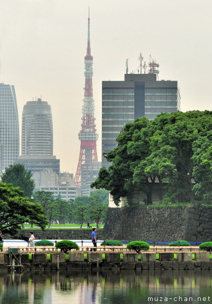 Tokyo Tower, View from Imperial Palace
