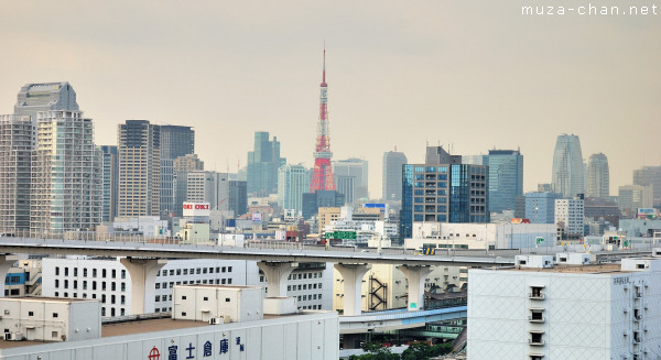 Tokyo Tower, View from Rainbow Bridge