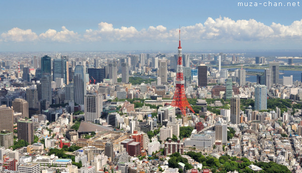 Tokyo Tower, View from Roppongi Hills Observatory