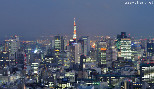Tokyo Tower, View from Sunshine 60 Observatory