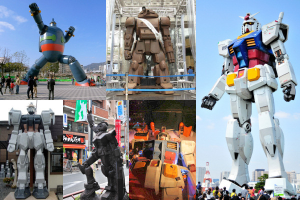 Top 6 Giant Robot Japanese Tourist Attractions