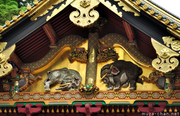 Imaginary elephants, Kamijinko, Toshougu Shrine, Nikko