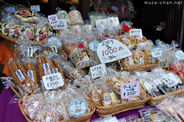 Traditional Japanese sweets, Kashiya Yokocho, Kawagoe, Saitama