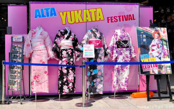 Alta Yukata Festival, Shinjuku, Tokyo