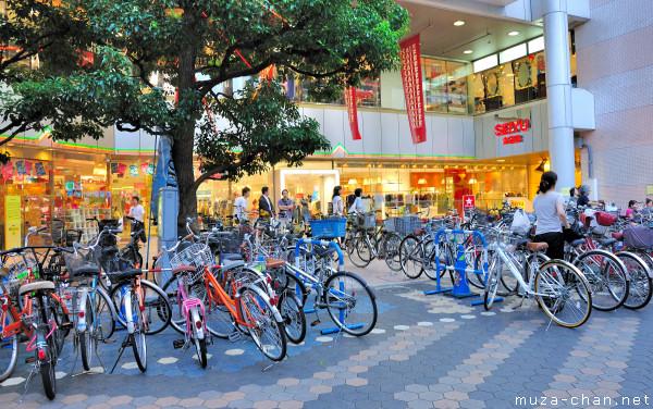 Bicycles in Japan, Asakusa, Tokyo