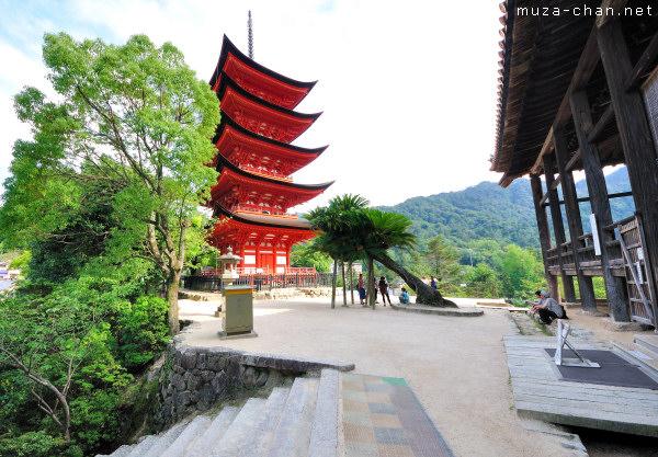 Five-Storied Pagoda, Senjokaku Hall, Miyajima island