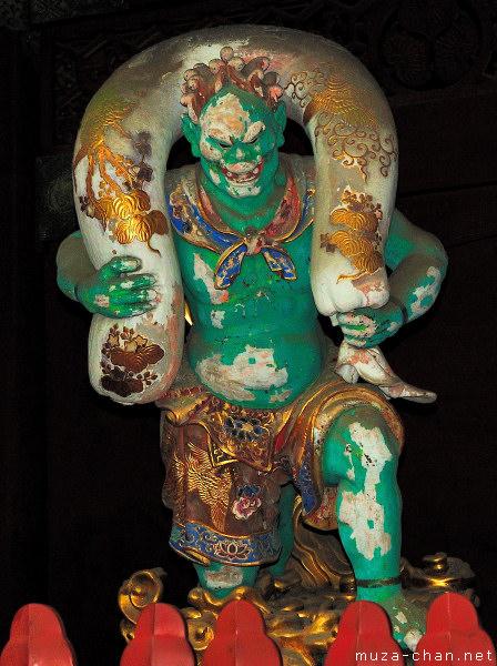Fujin (The God of Wind), Nitenmon Gate, Taiyuin Mausoleum, Nikko