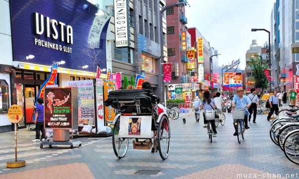Rickshaw and bicycles, Asakusa, Tokyo