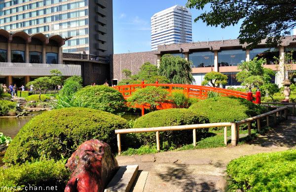 Red Akadama stone, New Otani, Tokyo