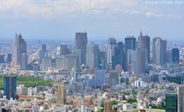 Nishi-Shinjuku Skyscrapers, View from Roppongi Hills Observatory, Tokyo