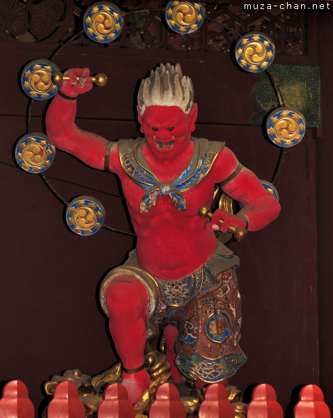 Raijin (The Thunder God), Nitenmon Gate, Taiyuin Mausoleum, Nikko
