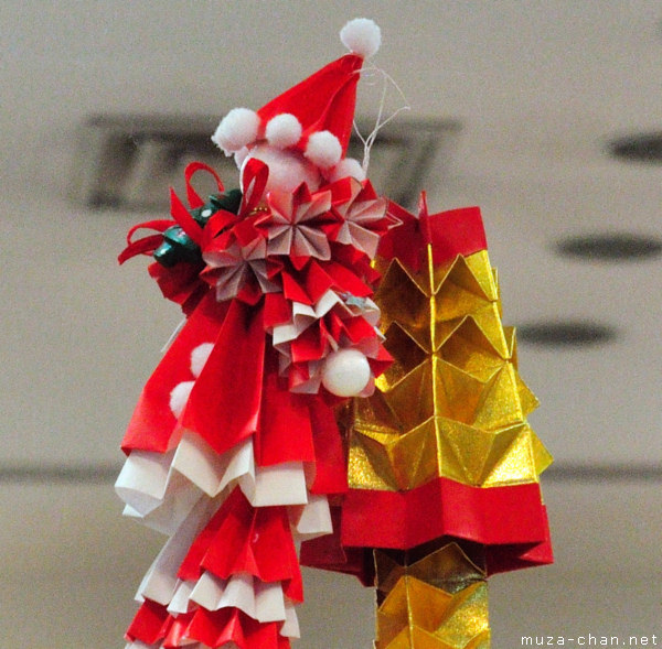santa claus origami - Japanese Christmas Tree Decorations