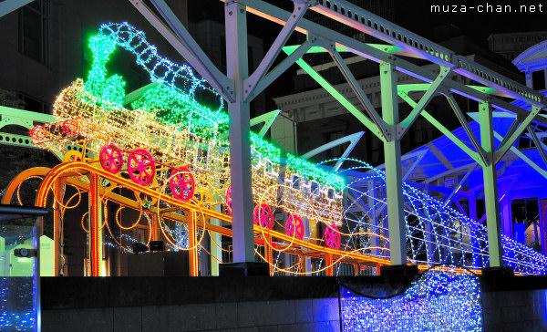 Mile Marker Zero Winter Illumination, Shiodome, Tokyo